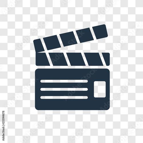 Fototapeta Filmmaker vector icon isolated on transparent background, Filmmaker transparency