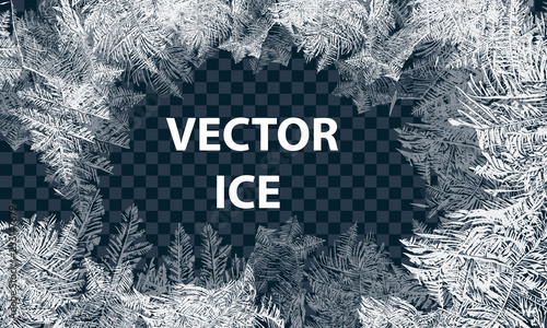 Fotografie, Obraz Vector Patterns Made by the Frost
