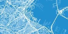 Urban Vector City Map Of Yokohama, Japan