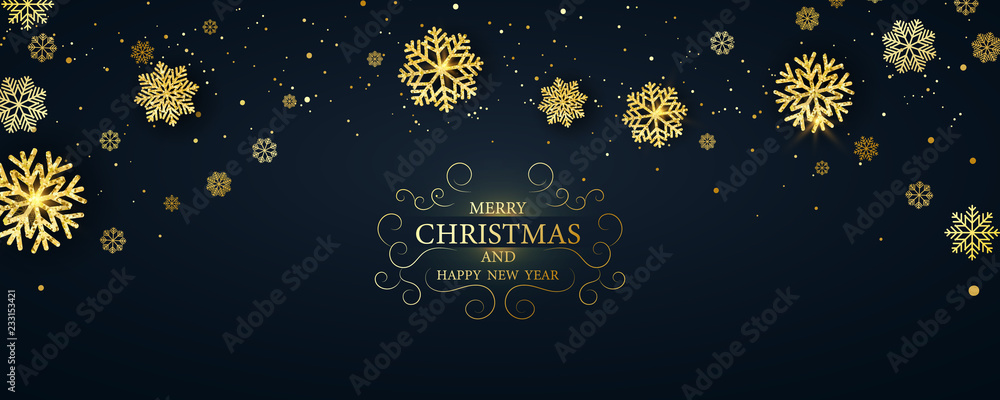 Fototapety, obrazy: Merry Christmas and Happy New Year background.
