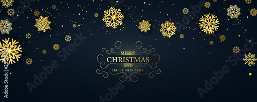 Fotografie, Obraz  Merry Christmas and Happy New Year background.