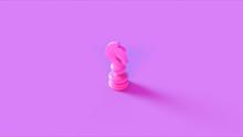 Pink Chess Knight Piece 3d Ill...