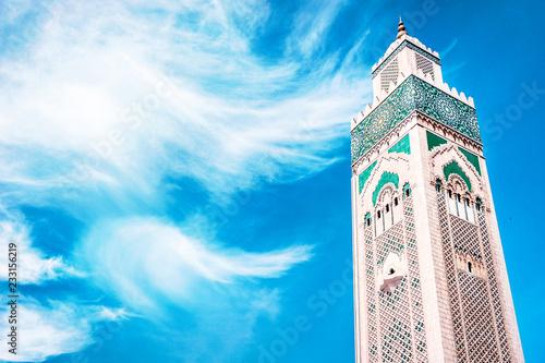 Fototapeta Hassan II Mosque in Casablanca, Morocco. Religion concept