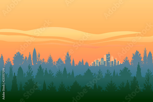 Winter Heaven Sunset Background