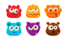Cute Funny Colorful Jelly Anim...