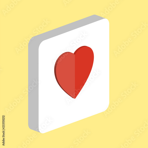 Rating Heart Simple vector icon  Illustration symbol design