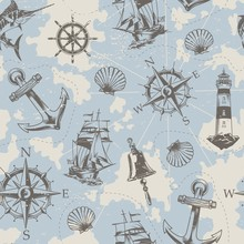 Vintage Nautical Elements Seam...