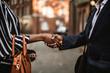 New business acquaintances shaking hands