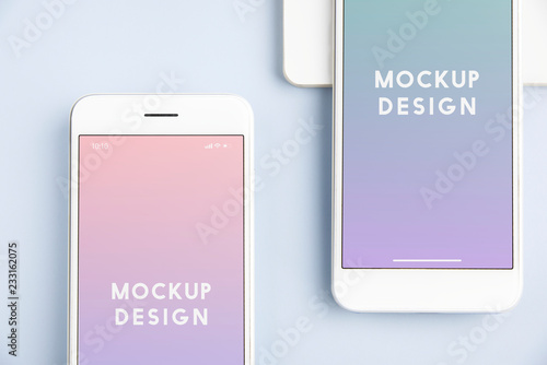Obraz Premium mobile phone screen mockup template - fototapety do salonu