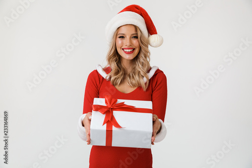 Portrait of a smiling blonde woman