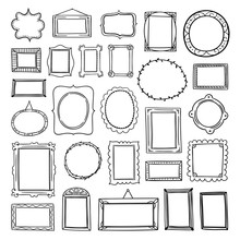 Vector Frames Hand Drawn Colle...