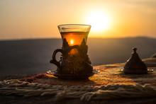 Arabian Tea In Glass On A East...