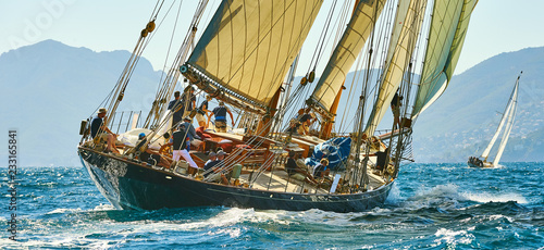 Photo sur Toile Navire Sailing yacht race. Yachting. Sailing