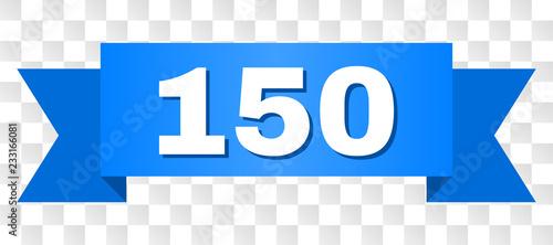 150 text on a ribbon. Desig...