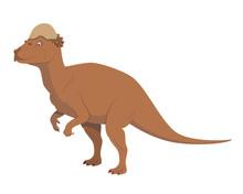 Pachycephalosaurus Vector Illu...