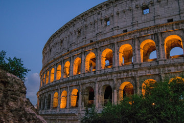 Colosseum at sunset, Rome. Italy.
