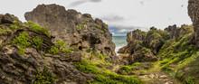 Punakaiki Pancake Rocks With Blowholes In The Paparoa National Park, New Zealand
