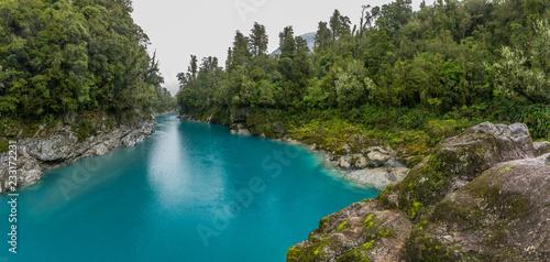 Foto op Aluminium Indonesië Blue water and rocks of the Hokitika Gorge Scenic Reserve, South Island New Zealand