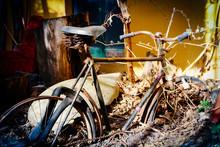 Bike Abandoned Remaining Of Ru...