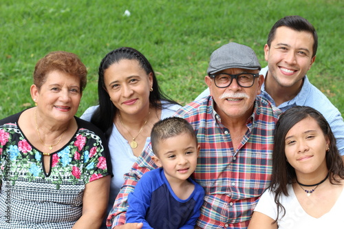 Hispanic family in the park