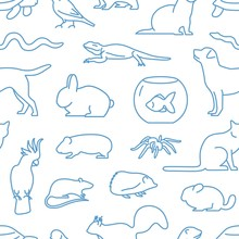 Monochrome Seamless Pattern Wi...