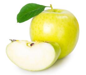 Fototapeta Fresh apple on white background