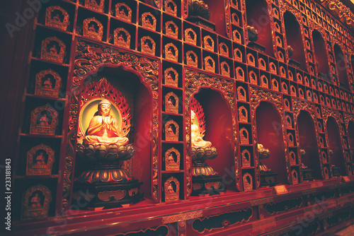 Walls in Hindu temples Fototapet