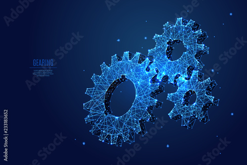 A gearing composed of polygons Canvas Print
