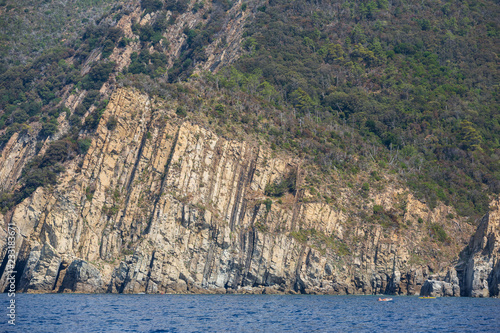 Dramatic cliffs of the Ligurian coastline, just outside of