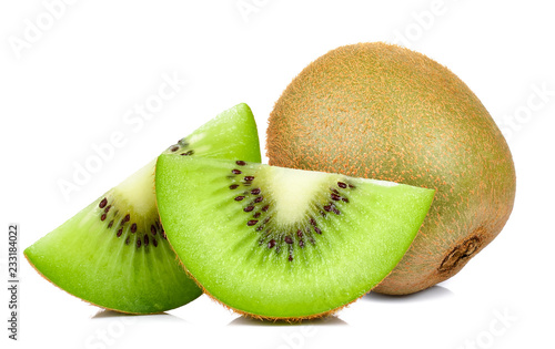 Kiwi fruit isolated on the white background Tableau sur Toile
