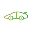 Sports Car Transport Line Gradient Icon