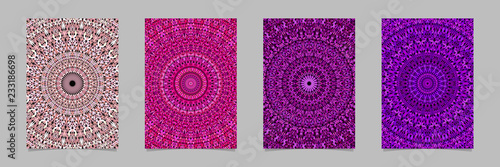 Photo  Gravel mosaic mandala flyer background set - vector stationery template graphics