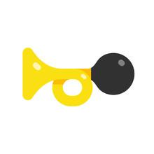 Icon Horn, Car Horn Simple Flat Style Vector Illustration
