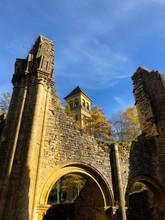Rovine Sotto I Colori Autunnali, Abbazia Di Notre Dame Di Orval, Belgio