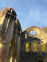 Rosone Di Una Rovina All'Abbazia Di Notre Dame Di Orval, Orval, Belgio
