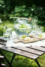 Woodruff Punch On A Garden Table