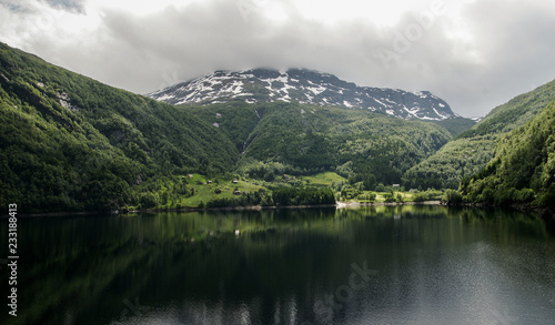 Fotobehang Bergen Norway