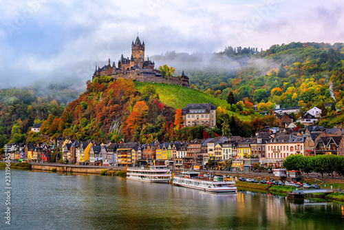 Spoed Fotobehang Europa Cochem, a beautiful historical town on romantic Moselle river, Germany