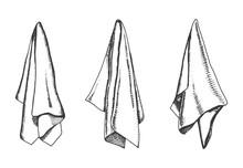 Kitchen Towels Vector Sketch. ...