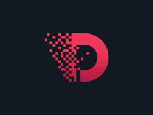 Pixel Letter D Logo