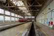 A maintenance hall for trains, depot