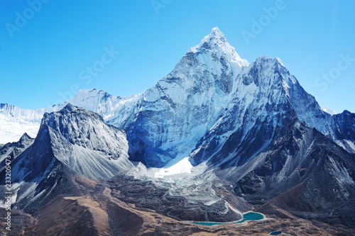 Photo Mountain peak Everest