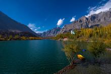 Autumn At Upper Lake Valley. Northern Area Pakistan