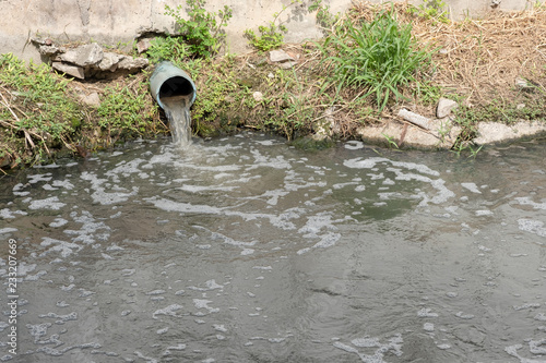Fotografiet Storm Drain Outflow, stormwater, water drainage, waste water or effluent