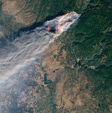 Satellite View Of The Wildfire...