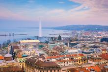 Top View Of Geneva Skyline Fro...