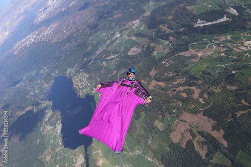 Poster Glaciers Wingsuit skydiving over Norway