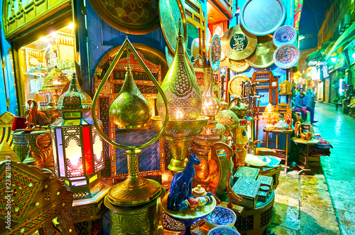The lamp store in Khan El Khalili Bazaar, Cairo, Egypt