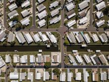 Aerial View Of A Neighborhood ...