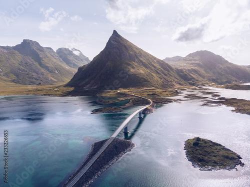 Poster Landschap Amazing landscape of roadway on islands
